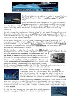 The Unsinkable Titanic - Reading Strategies