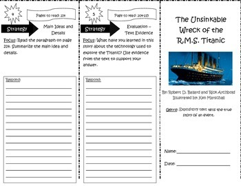 The Unsinkable Wreck of the R.M.S. Titanic Trifold Reading Street Unit 5 Week 2