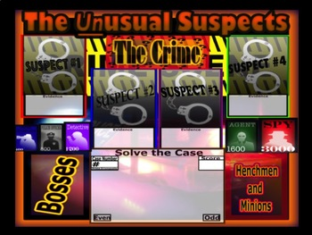 Mystery Math Game - The Unusual Suspects 5th Grade