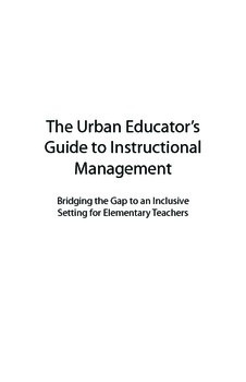 The Urban Educator's Guide to Instructional Management: Elementary Teachers