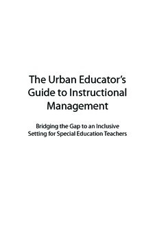 The Urban Educator's Guide to Instructional Management: Sp