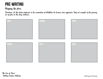 The Use of Force by William Carlos Williams: Quiz and Graphic Organizer