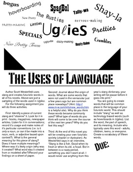The Uses of Language: The Evolution of Vocabulary within the Uglies trilogy