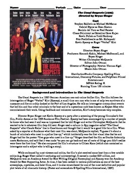 The Usual Suspects Film (1995) Study Guide Movie Packet