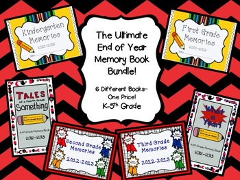 The Utimate End of Year Memory Book Bundle- K-5th Grade