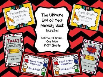The Utimate End of Year Memory Book Bundle- K-5th Grade