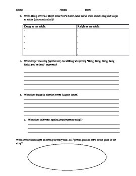 """""""The Utterly Perfect Murder"""" Guided Reading Questions"""