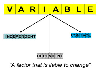 The VARIABLES (Scientific skills)