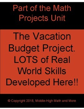 The Vacation Budget Project: LOTS of Real World Skills Developed Here
