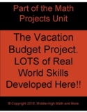 The Vacation Budget Project: LOTS of Real World Skills Dev