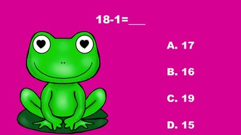 The Valentine Frogs' Addition/Subtraction PowerPoint Game
