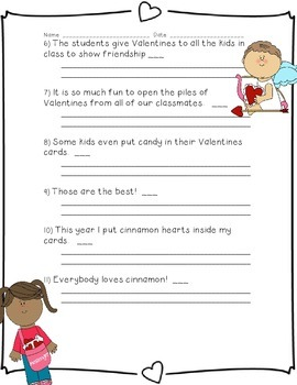 The Valentine's Day Party: Fact and Opinion Practice