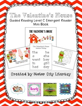 The Valentine's House: Guided Reading Level C Emergent Reader Mini Book