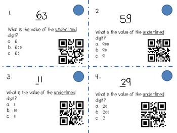 The Value of a Number (with QR codes)