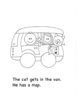 The Van: A Short a Coloring Book