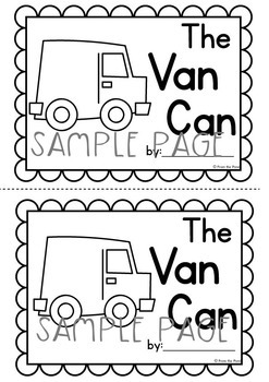 Word Family Printable Reader - The Van Can - Print Cut Make and READ