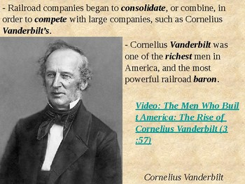 The Vanderbilt's and the Railroad Industry PowerPoint Presentation