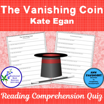 The Vanishing Coin: A Reading Comprehension Quiz and Activity