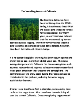 The Vanishing Forests of California