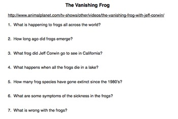 The Vanishing Frog Movie Guide