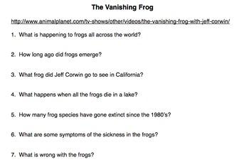 The Vanishing Frog Movie Guide