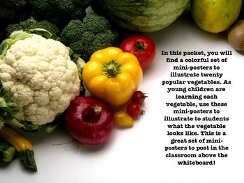 The Vegetable Group: Mini-Posters for Teaching!