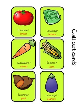 The Vegetables bilingual games
