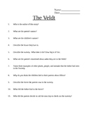 The Veldt Comprehension Questions AND Answer Key