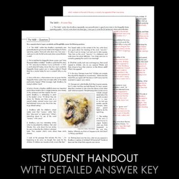 The Veldt, Ray Bradbury Short Story Worksheets and Multimedia, Sci Fi, CCSS