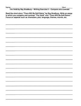 The Veldt by Ray Bradbury Questions, Vocab, Essays