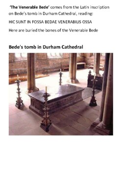 The Venerable Bede Handout