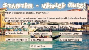 The Venice Murders - Creative Writing