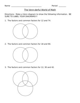 The Venn-Derful World of Math