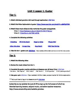 The Verb Gustar Internet Activities