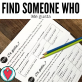 Spanish Speaking Activity - Gustar - Find Someone Who Span