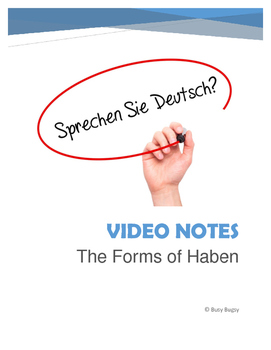 The Verb Haben Video Guide