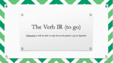 The Verb IR (to go) Power Point Presentation and Practice