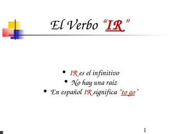 """The Verb """"Ir - to go"""""""