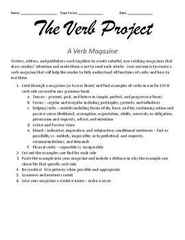 The Verb Project: Create a Magazine
