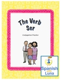 Spanish: The Verb SER (to be) Conjugation Practice - Worksheet