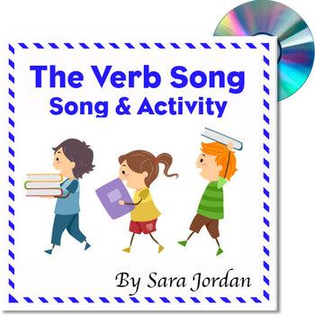 """The Verb Song"" - MP3 Song w/ Lyrics & Activity Teaching Verbs"