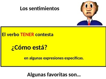 The Verb TENER and it's uses including expressions