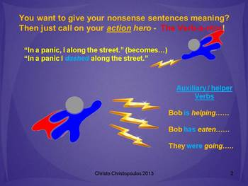 The Verb-a-nator Verb PowerPoint