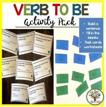 The Verb to be {Activities, Center Work, Worksheets}