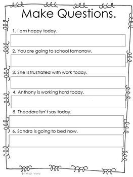 Verb Tenses Activities Worksheets Verb to Be