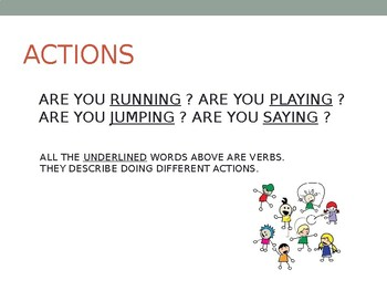 THE VERBS LESSON (with sing-along song)