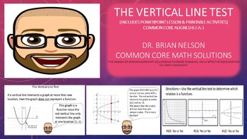 The Vertical Line Test (PowerPoint Presentation & Printables!)