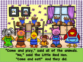 The Very Busy Little Red Hen  (PowerPoint / Close Reading Book)
