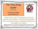The Very Busy Spider BOARDMAKER Bingo
