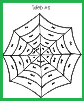 The Very Busy Spider Bingo Reading Activity